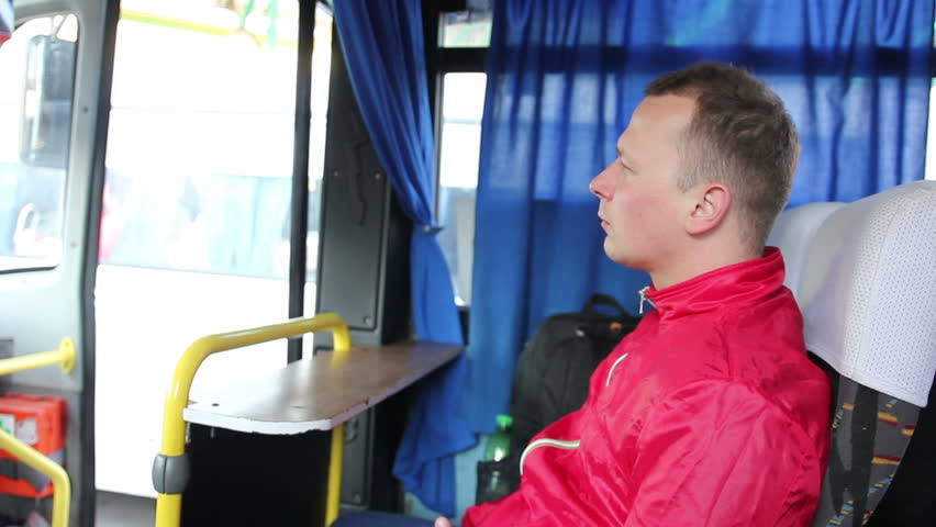 Young Handsome Man Travelling by Bus | Shutterstock HD Video #17055418