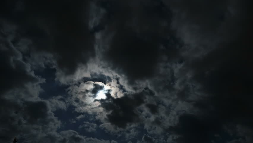 Moon with thunderclouds | Shutterstock HD Video #17057875
