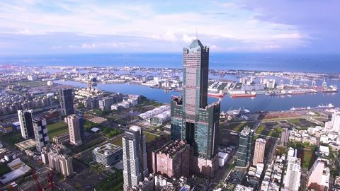Aerial view of Kaohsiung habor - Taiwan