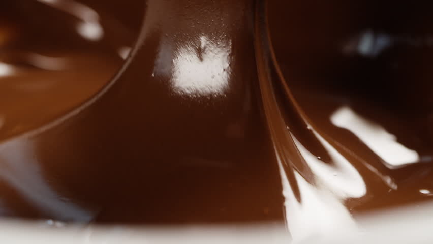 slow motion pouring chocolate background, prores 180fps footage