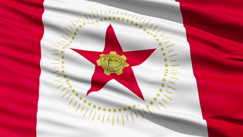 Alabama Waving American State Capital City Flag Animation