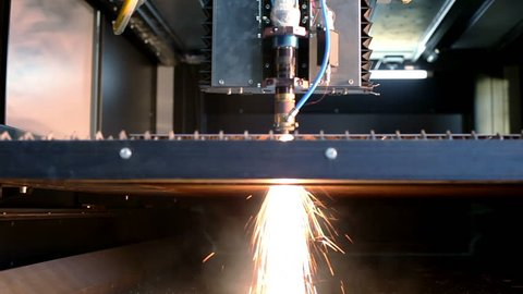 Manufacture of metal flues and vent systems. Laser machine cuts the metal sheet.
