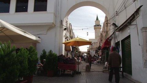 TRIPOLI/LIBYA - 31ST OCTOBER 2010: Narrow streets of the Medina of Tripoli, Libya