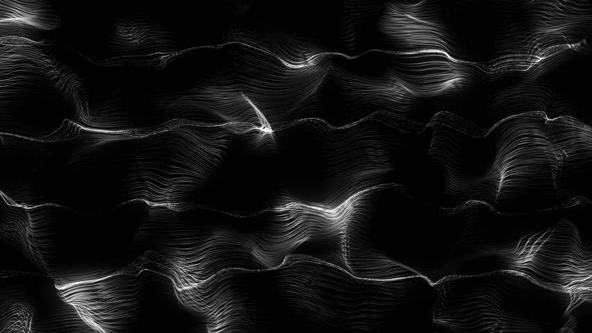 Loopable abstract 3d rendering particle background, lines surface displaced  with turbulence field    Shutterstock HD Video #17247175
