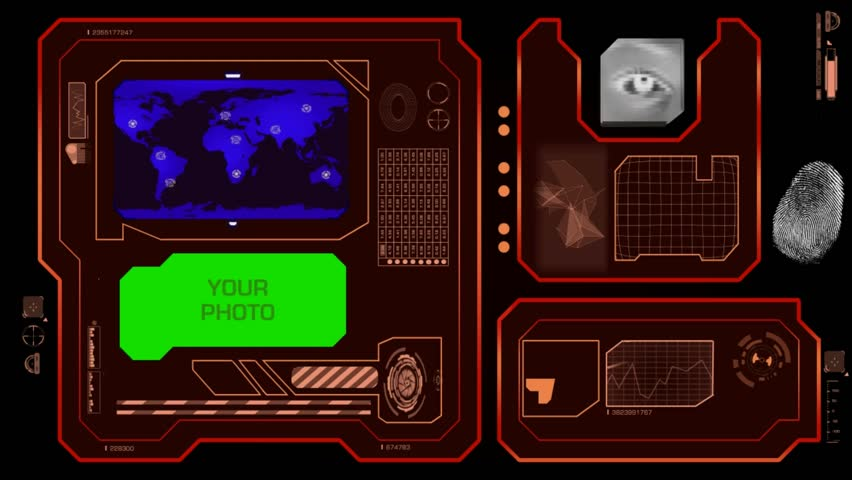 Interface scanning world   Shutterstock HD Video #17273425