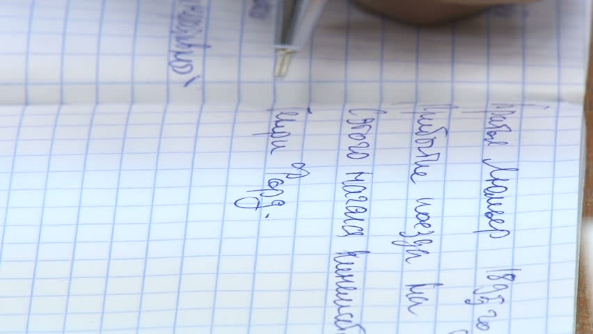 Take Notes of a Lecture. Write Letters in a Notebook in a Cage. Writing in a Notebook. Closeup. Children, Scool, Education | Shutterstock HD Video #17279356