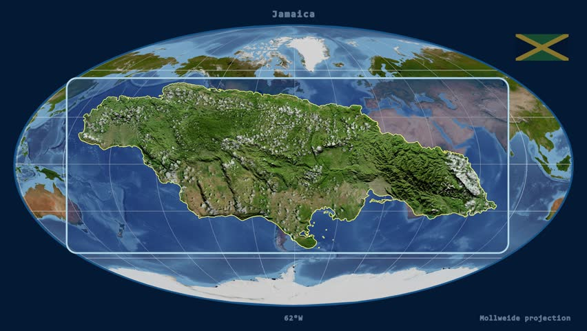 Jamaica shape animated on the satellite map of the globe videos de zoomed in view of a jamaica outline with perspective lines against a global satellite map gumiabroncs Images