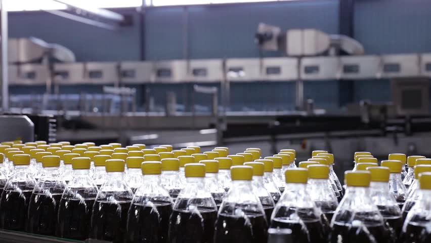 Production line of mineral water and carbonated drinks. Plastic packaging. preform | Shutterstock HD Video #17312575