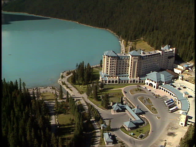 Fly past Chateau Lake Louise Banff National Park | Shutterstock HD Video #173245
