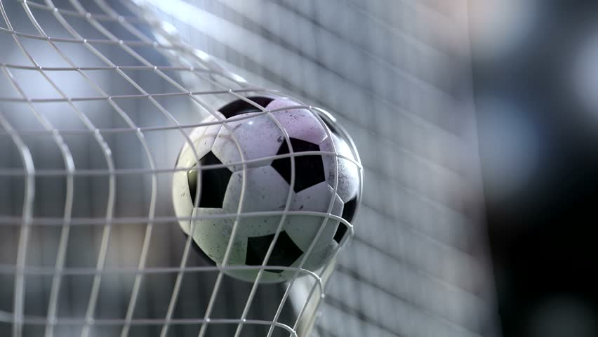soccer ball in goal net with slowmotion. Slowmotion football ball in the net. | Shutterstock Video #17339812