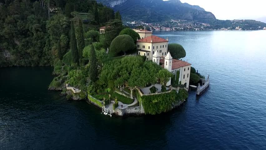 Aerial Video of the Beautiful Italian Villa Balbianello, Lake Como | Shutterstock HD Video #17407435