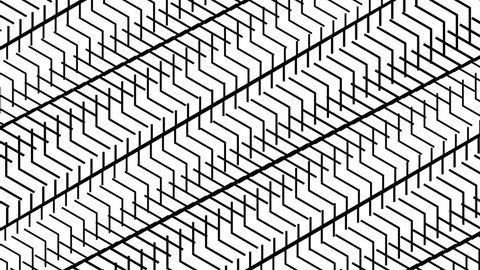 stairs pattern motion background abstract loop black and white