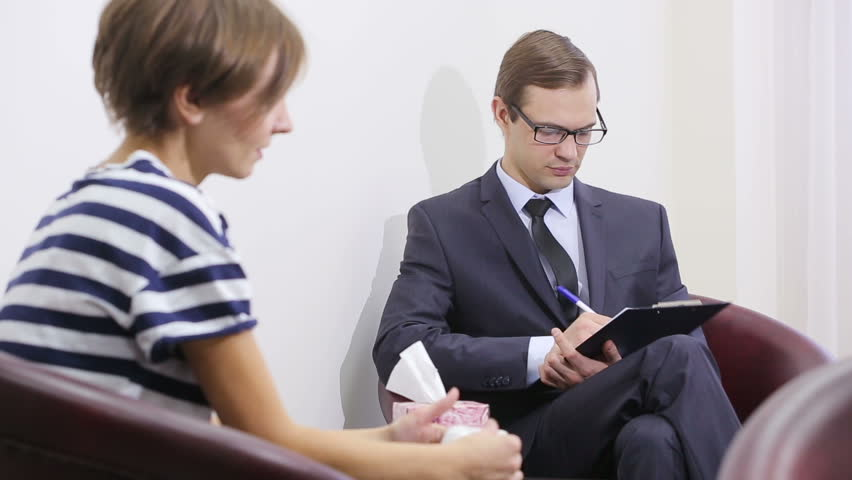 Pretty Male Psychiatrist Looking At Stock Footage Video 100