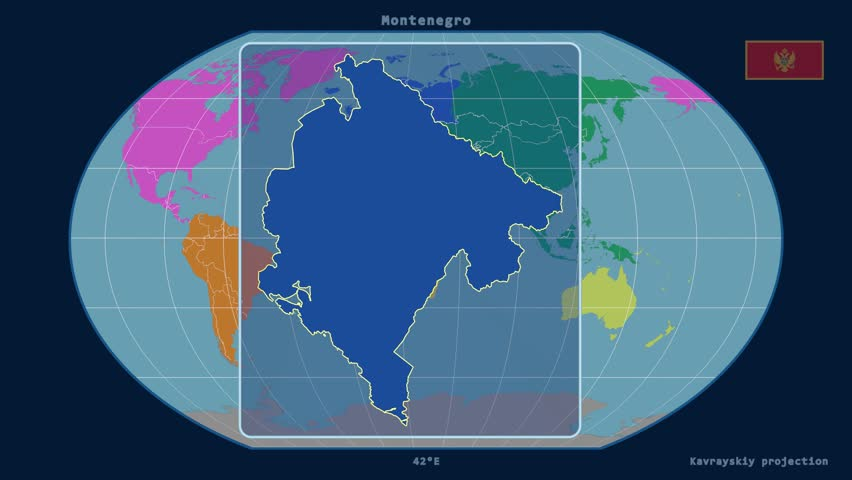 Earth Map Blue Pink Silhouette Diagonal Loop Global - Continental global