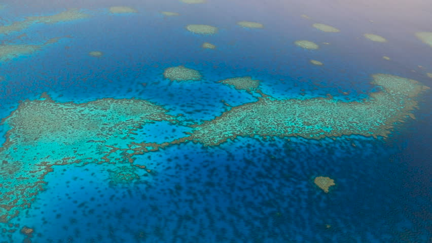 The Great Barrier Reef from the air, Australia | Shutterstock HD Video #17465815