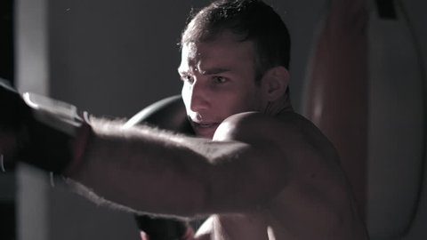 a boxer trains for a championship