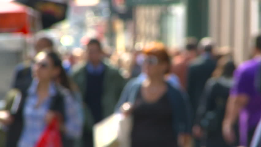 NEW YORK, NY - CIRCA 2010:  Soft focus of Pedestrian traffic along Broadway in SOHO, New York City | Shutterstock HD Video #1747465