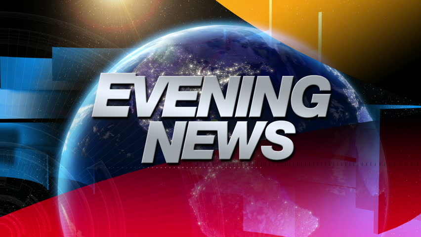 Evening News - Broadcast Graphics Title - HD stock footage clip