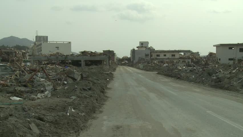 Tsunami Destruction Aftermath In Japan
