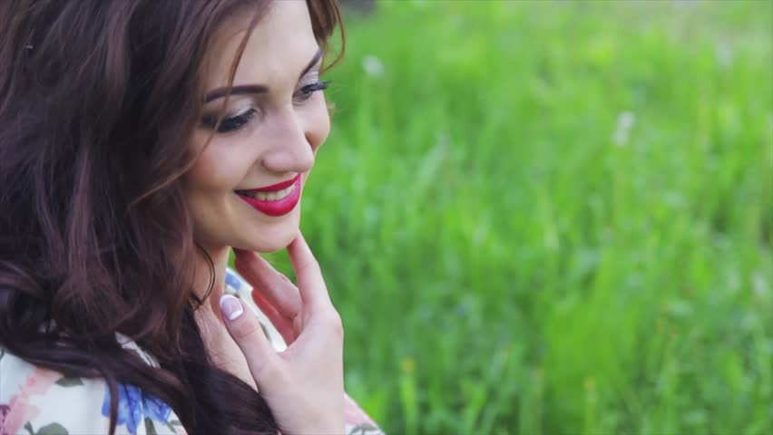 Beautiful Russian Girl In The Decoration