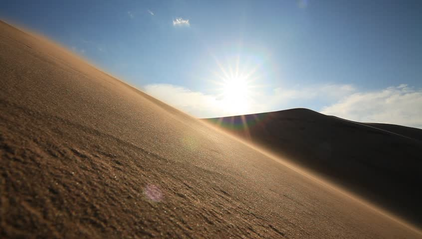 Big sand dune in the Sahara desert.   Shutterstock HD Video #17527945