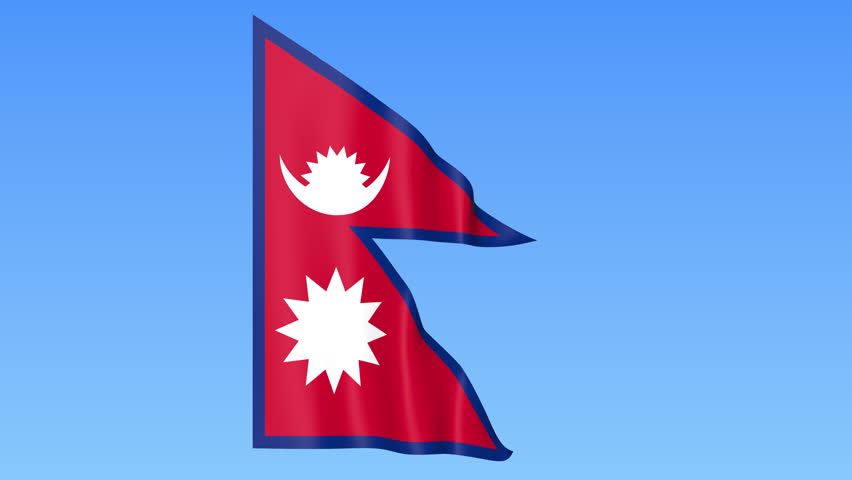animated flag of nepal in slow motion stock footage video 13208897