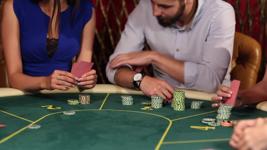 People Make Bets at the Poker Table in Casino, Close-Up | Shutterstock HD Video #17675935