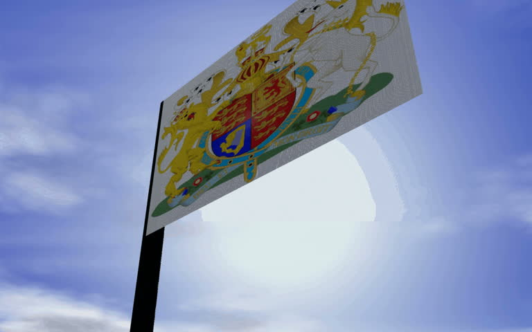 Royal Flag, hdtv-Format. | Shutterstock HD Video #176875