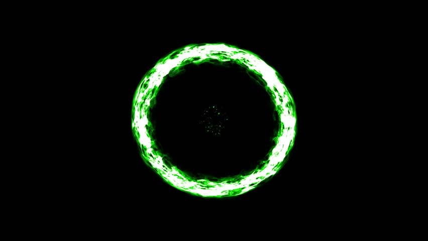Green Sun Burst Background Technology Stock Footage Video