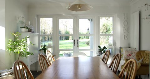 Dining Room In Contemporary Family Home