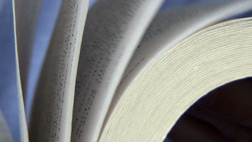 Flipping pages of a book