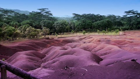 The most famous tourist place of Mauritius - earth of seven colors
