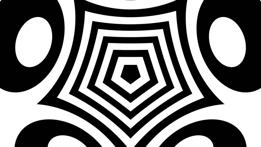 Trippy Geometric Black and White Stock Footage Video (100% Royalty-free)  17887615 | Shutterstock
