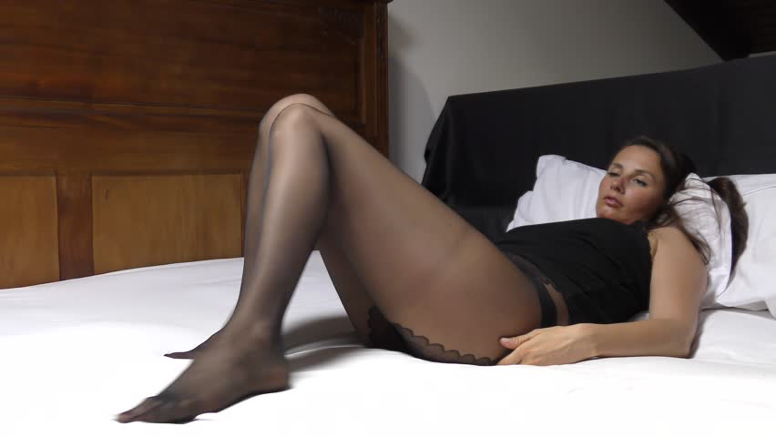 In pantyhose video