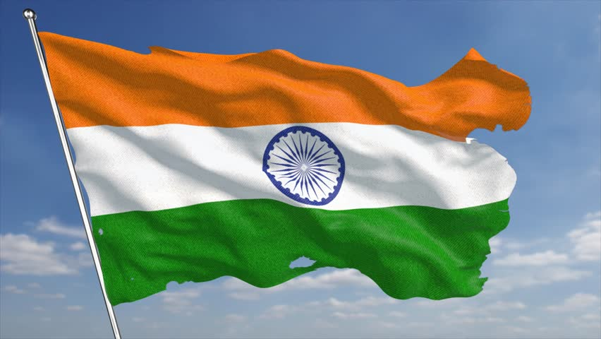 Indian Flag Images Hd720p: The 4k India Flag Animated Stock Footage Video (100