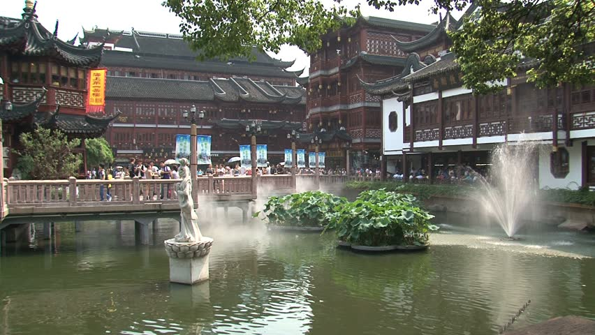 SHANGHAI, CHINA   CIRCA AUGUST 2011: Tea House In Yuyuan Garden   HD Stock