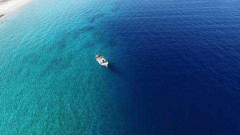 Wonderful  aerial footage from Aegean Sea
