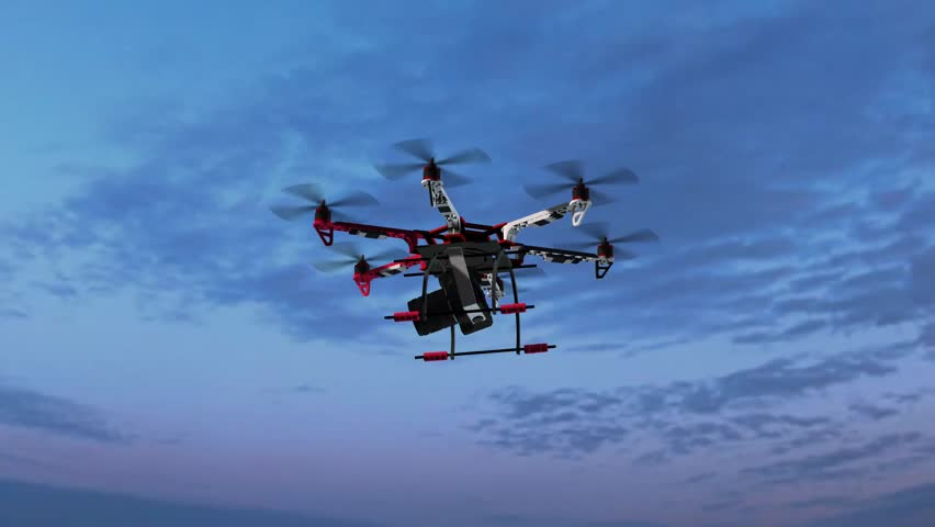 Drone Hexacopter with Camera in flight | Shutterstock HD Video #17923105