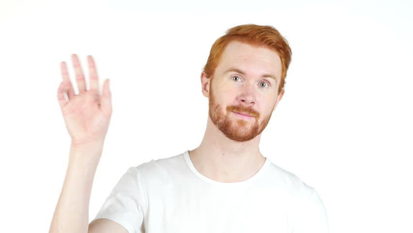 Smiling Redhair Young Man Pointing Finger At Camera ...