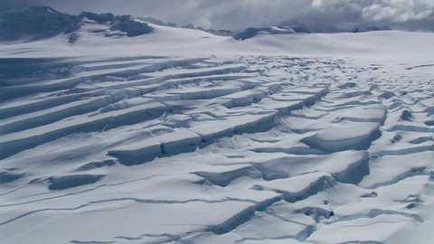 AERIAL WS Glacial crevasses / Antarctic Peninsula, Antarctica(Antarctica - January, 2010)