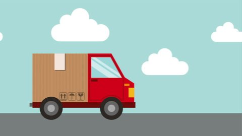 delivery service design, Video Animation HD1080