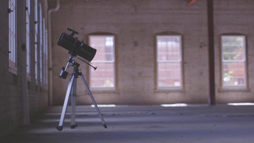 Telescope Beside Window Warehouse Interior Stock Footage Video (100%  Royalty-free) 18068125 | Shutterstock