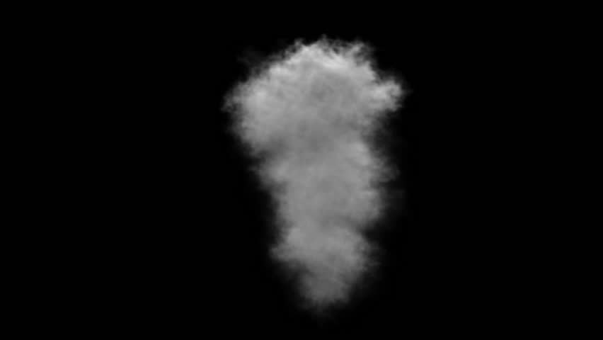 Smoke, steam on a black background. Alpha channel. 3D animation and rendering. | Shutterstock HD Video #18082885