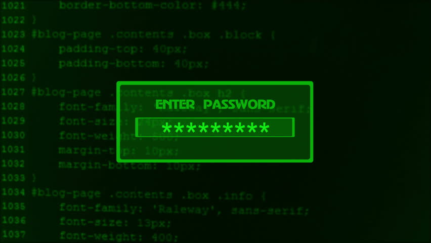 Animation of entering password on computer screen with access denied message | Shutterstock HD Video #18173887