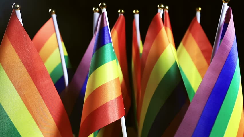 LGBT rainbow small flags background Community | Shutterstock HD Video #18179185