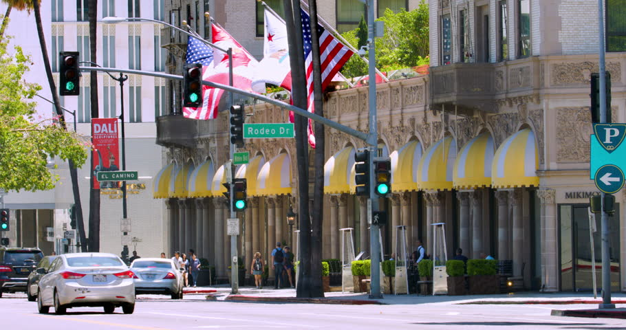beverly hills los angeles california usa july 17 2016 sightseeing - Green Canopy 2016