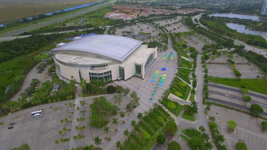 SUNRISE - JULY 21  Aerial video of the BB T Center home to the Florida  Panthers hockey team located at 1 Panther Pkwy and opened in 1998 July 21 79a4fd96c