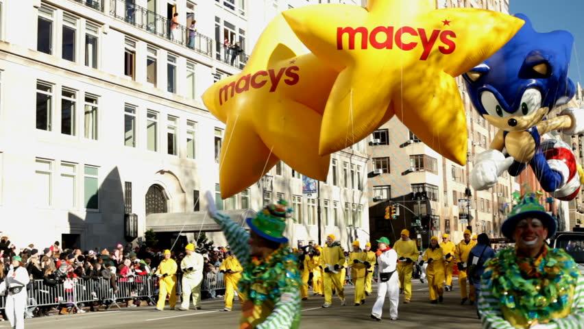 NEW YORK CITY, NY - NOVEMBER 24: Sonic Float at beginning of Macy's Thanksgiving Parade November 24, 2011 in New York City, New York.
