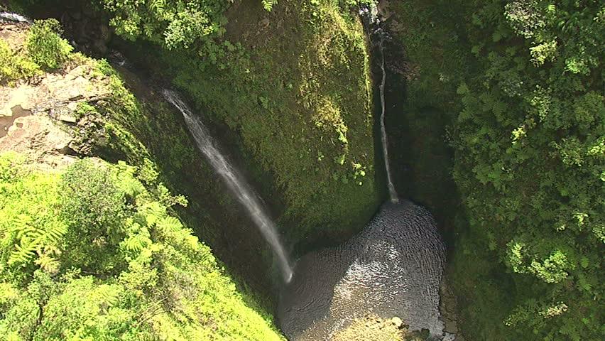 Waterfalls on the Hamakua Coast, Pololu, Hawaii