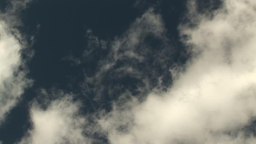 Clouds Blowing Across Blue Sky #18245
